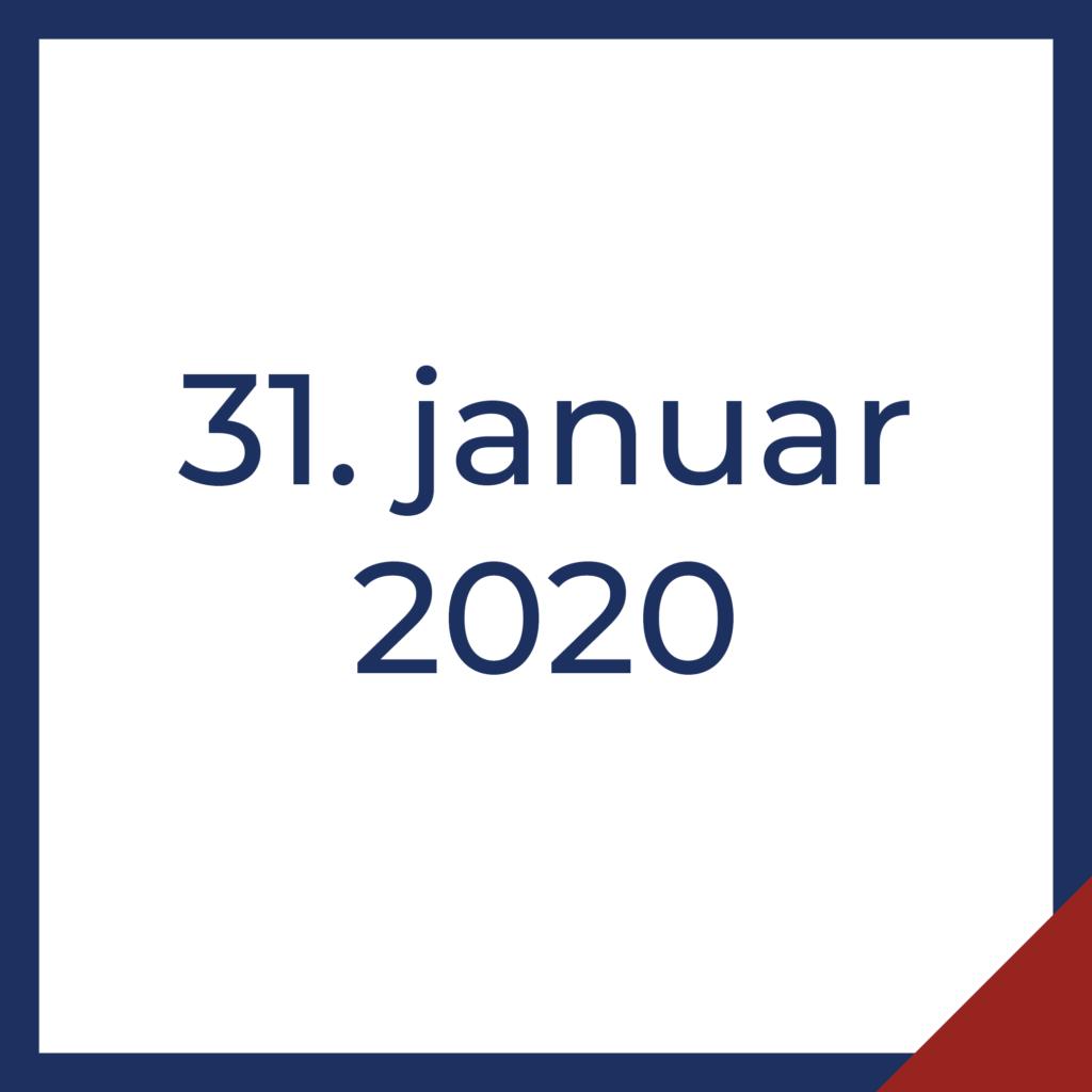 31. januar 2020
